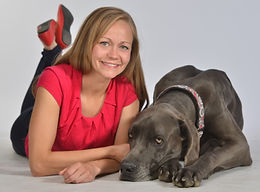 Dr. Merry Michalski and her dog, Howard.