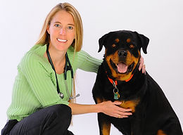 Dr. Heidi Wampler with her dog, Gus.