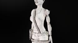 Cyborg Wire Frame Three-Quarters