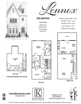 The Barton floor plan