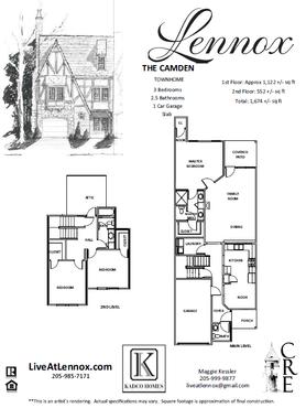 The Camden floor plan