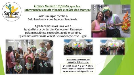 Sapecas Saudáveis na Igreja Batista do Jardim Carioca