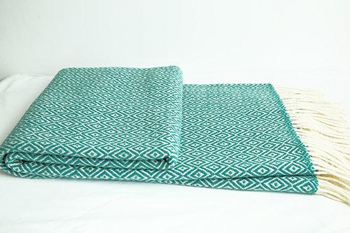 Plaid diamant turquoise