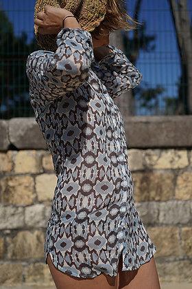 chemise beachwear en cotonnade bohostyle