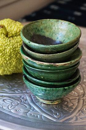 bol Tamgroute  bol vert émaillé artisanat de Marrakech