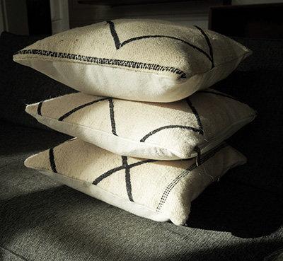 coussin berbere en laine