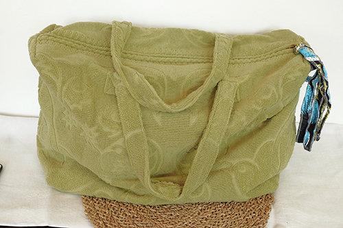 Cabas, sac XL LALLA en éponge - verveine -
