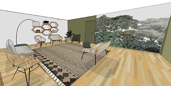 Visuel 3D salon