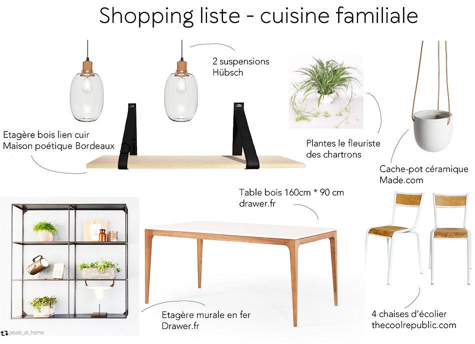 shopping liste cuisine