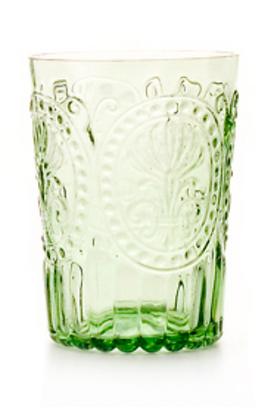 Lot de 6 verres à eau. Vert.