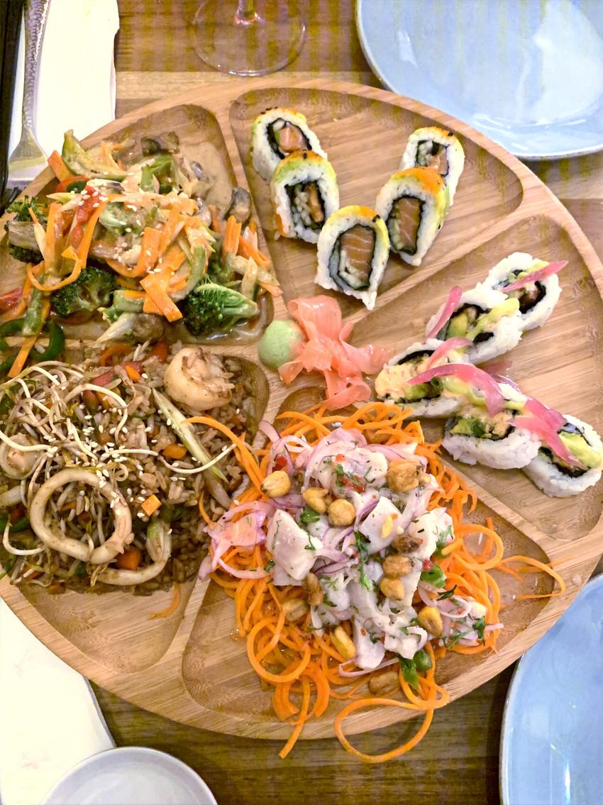 sushi dish at best sushi restaurant in Columbia
