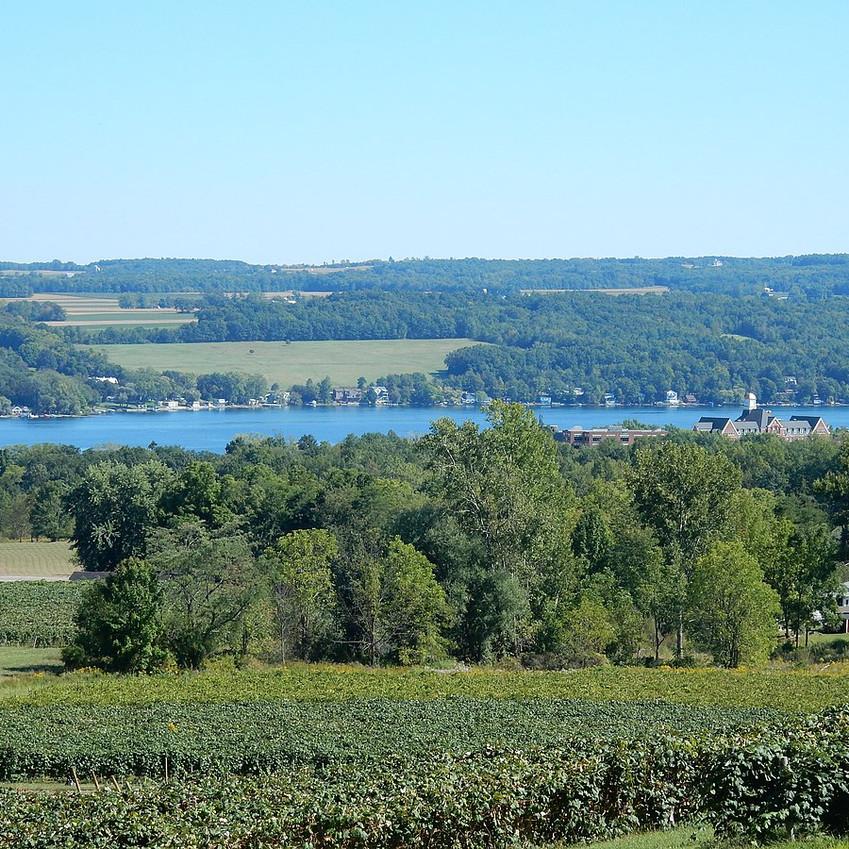 visiting the finger lakes region in New York