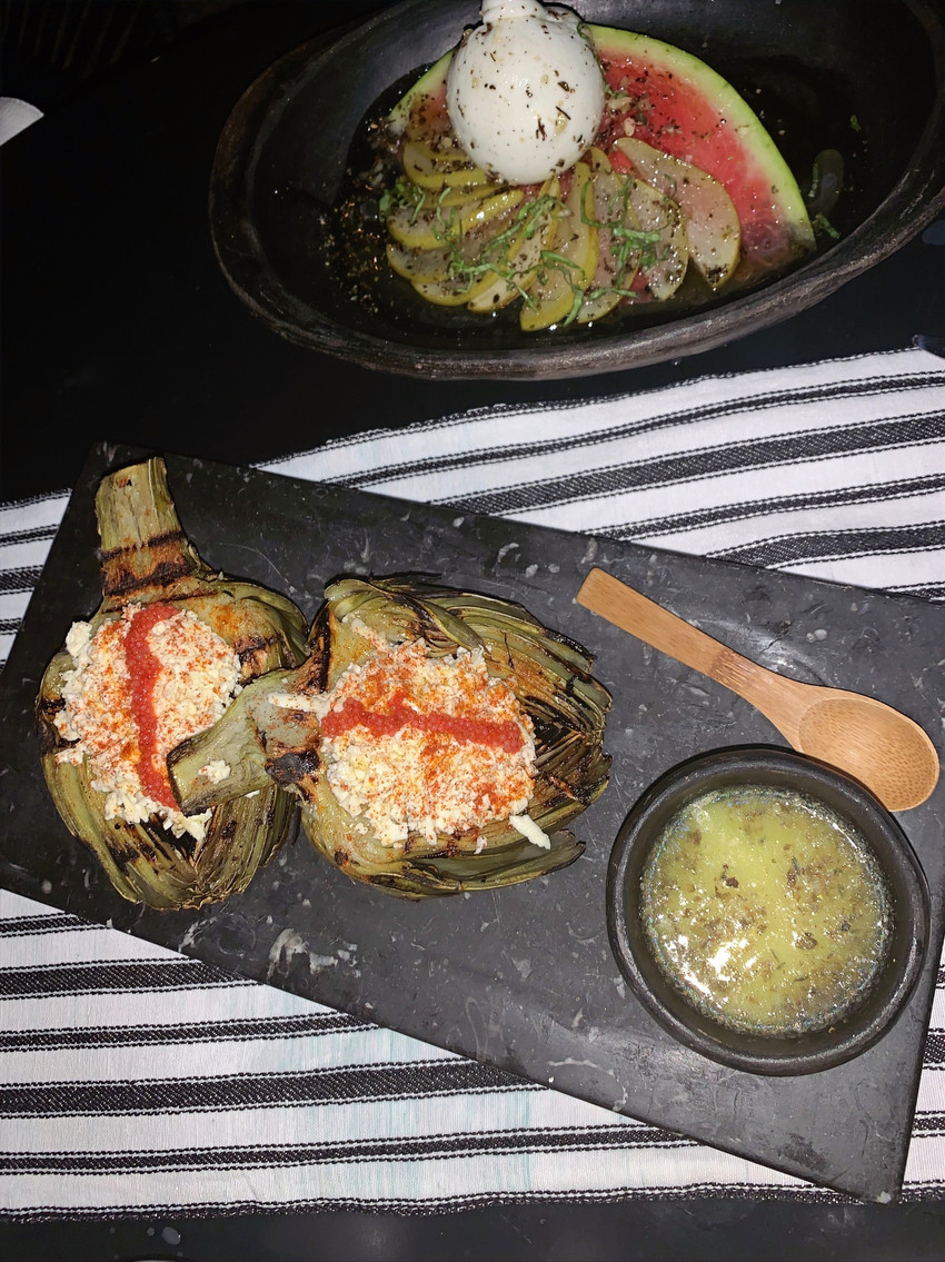 dinner in columbian restaurant cartagena