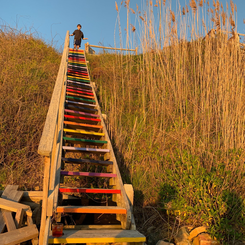 stairs at Montauk state park in Long Island