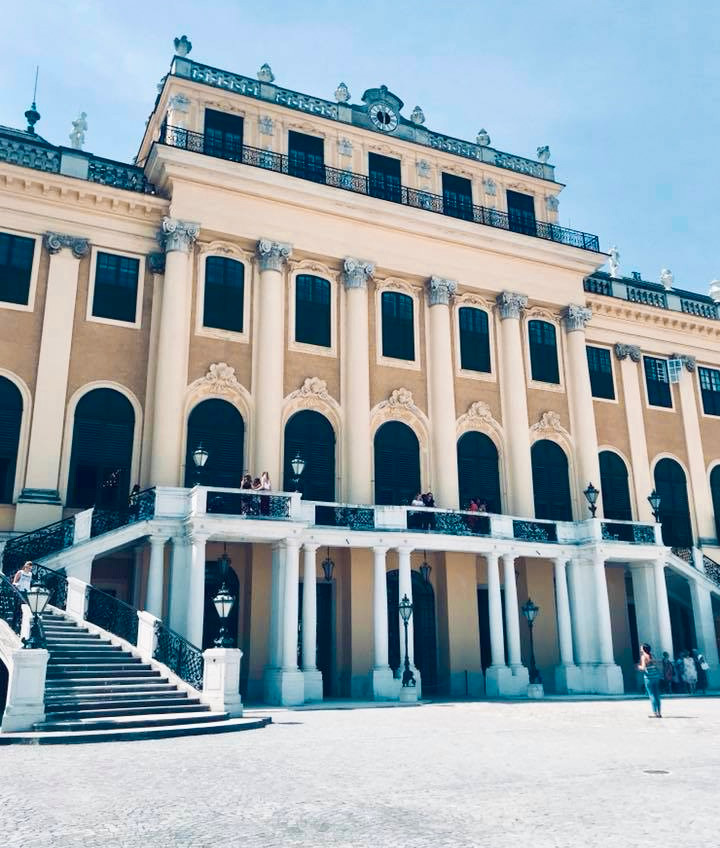 visiting palaces in Vienna