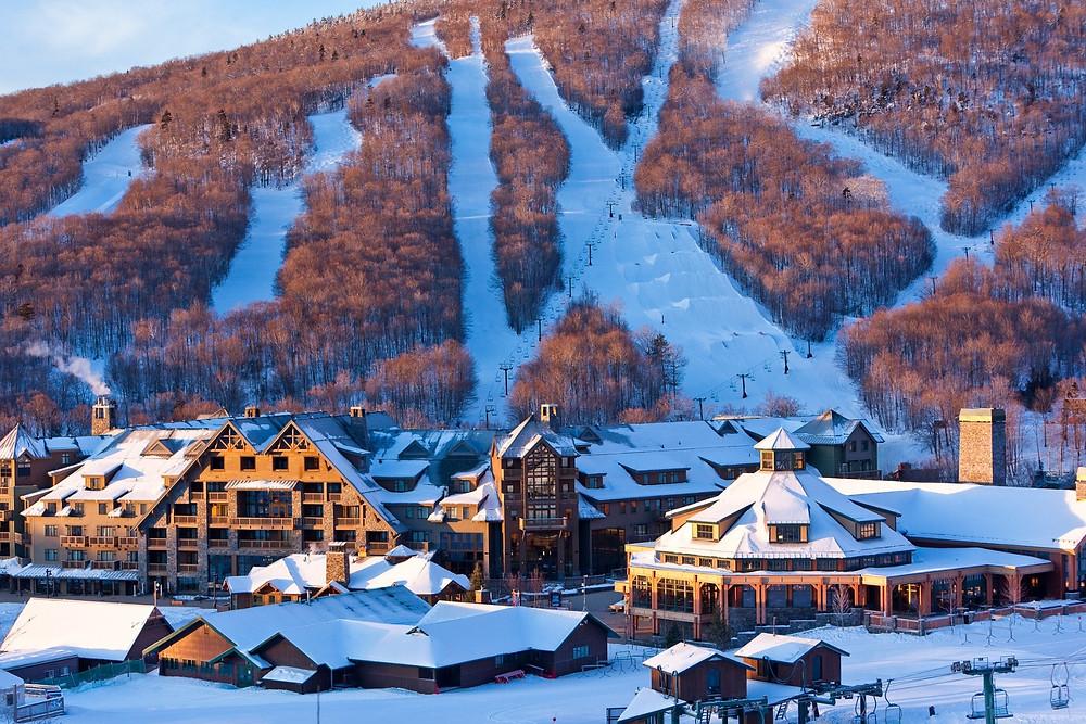 Beautiful winter ski towns