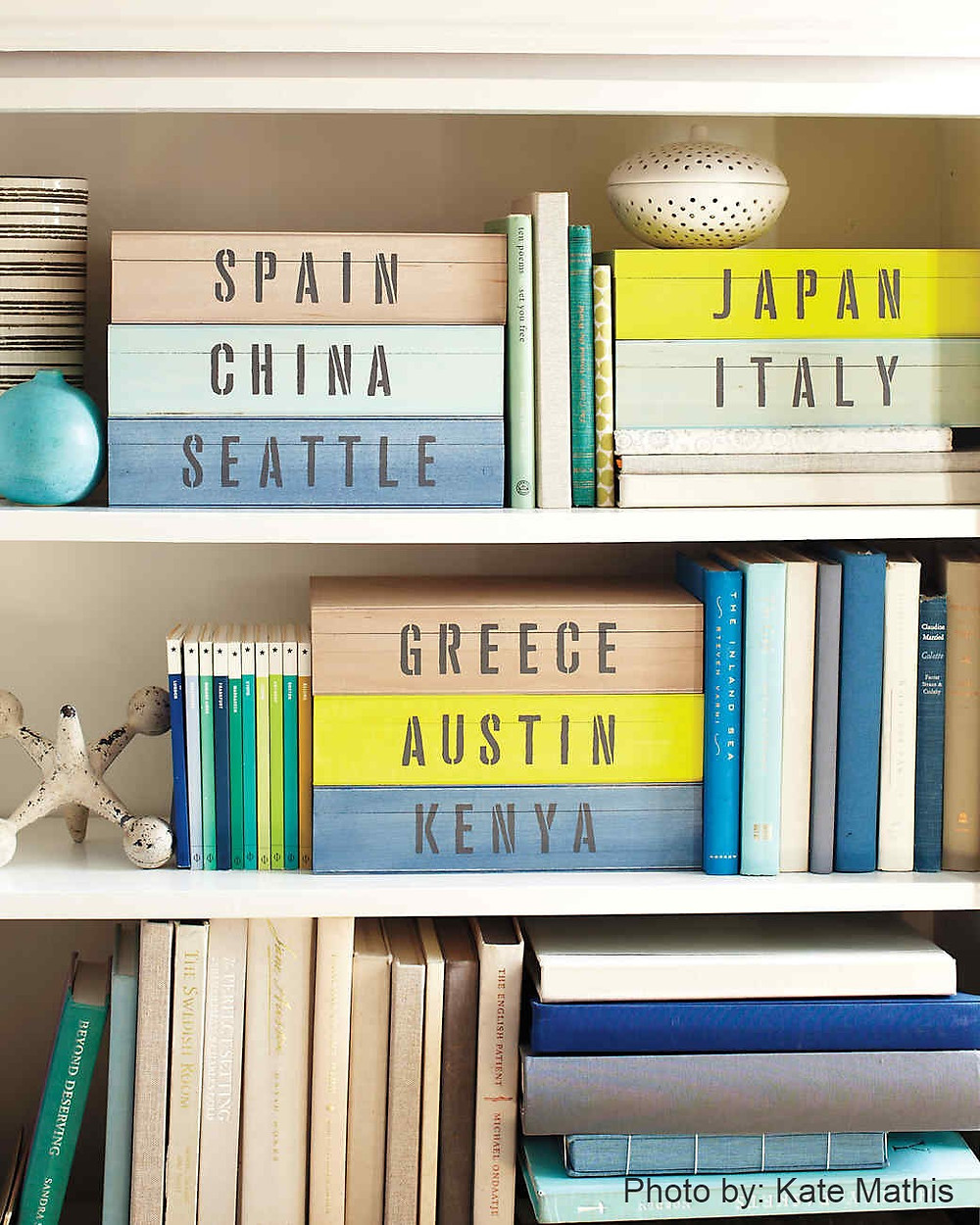keepsake boxes as travel decorations