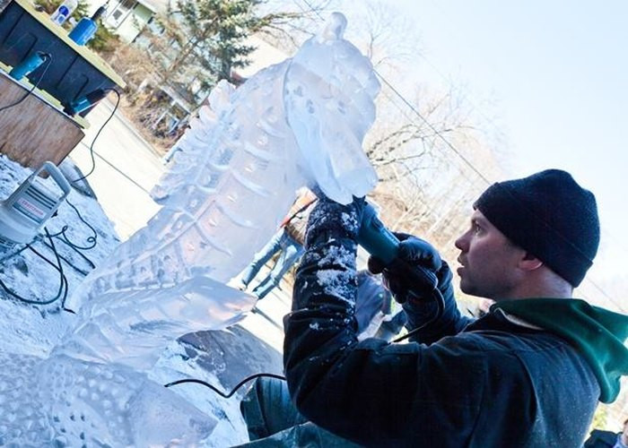 Ice Carvings in Chester CT