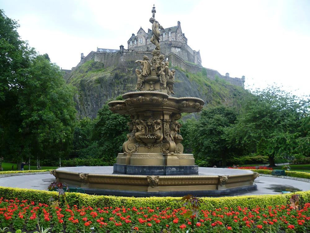 a day in Edinburgh Scotland