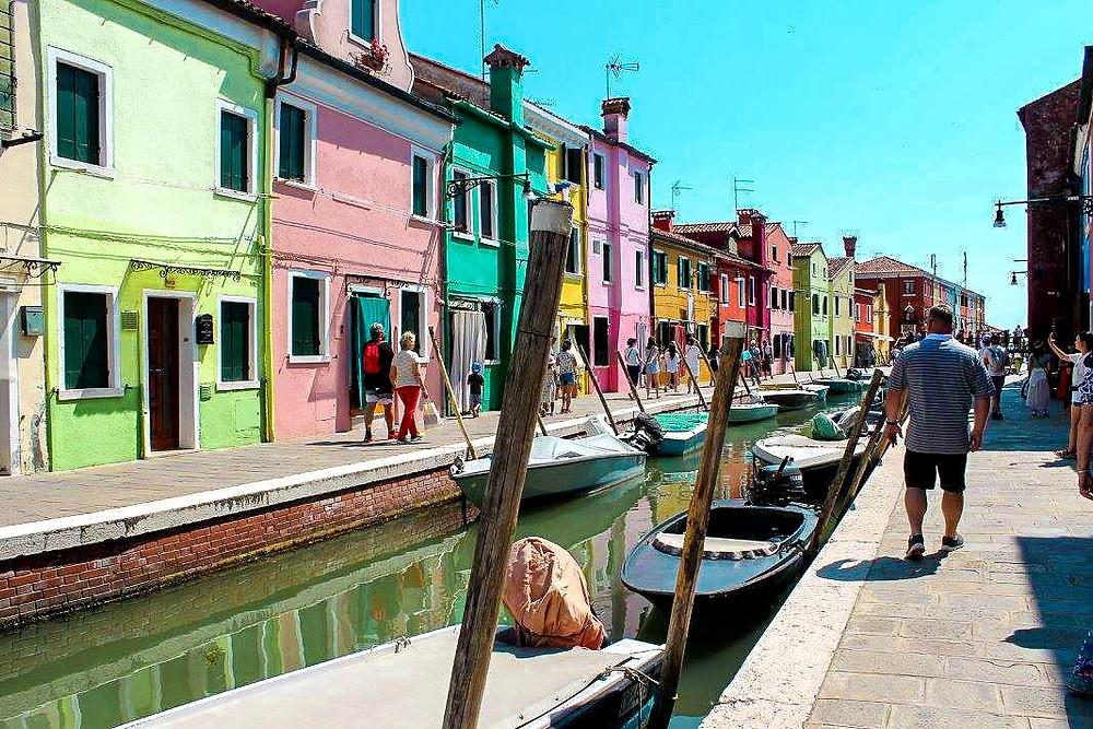 visiting Burano in Italy