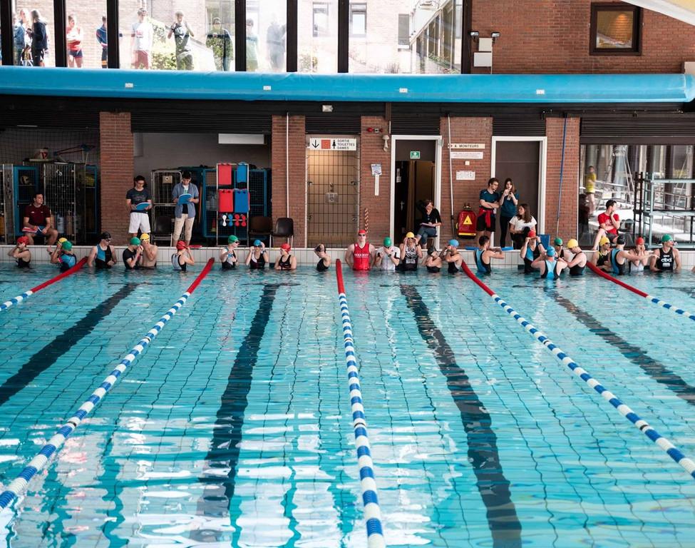 départ triatlon 2019 à la piscine