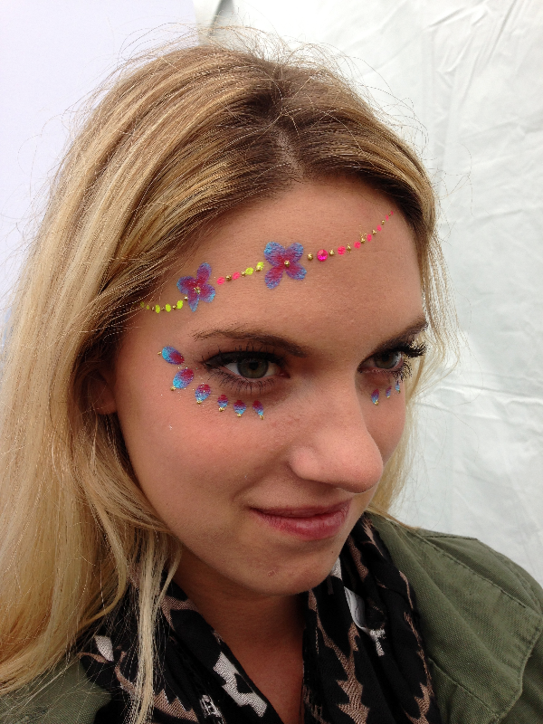outside lands face painting SF