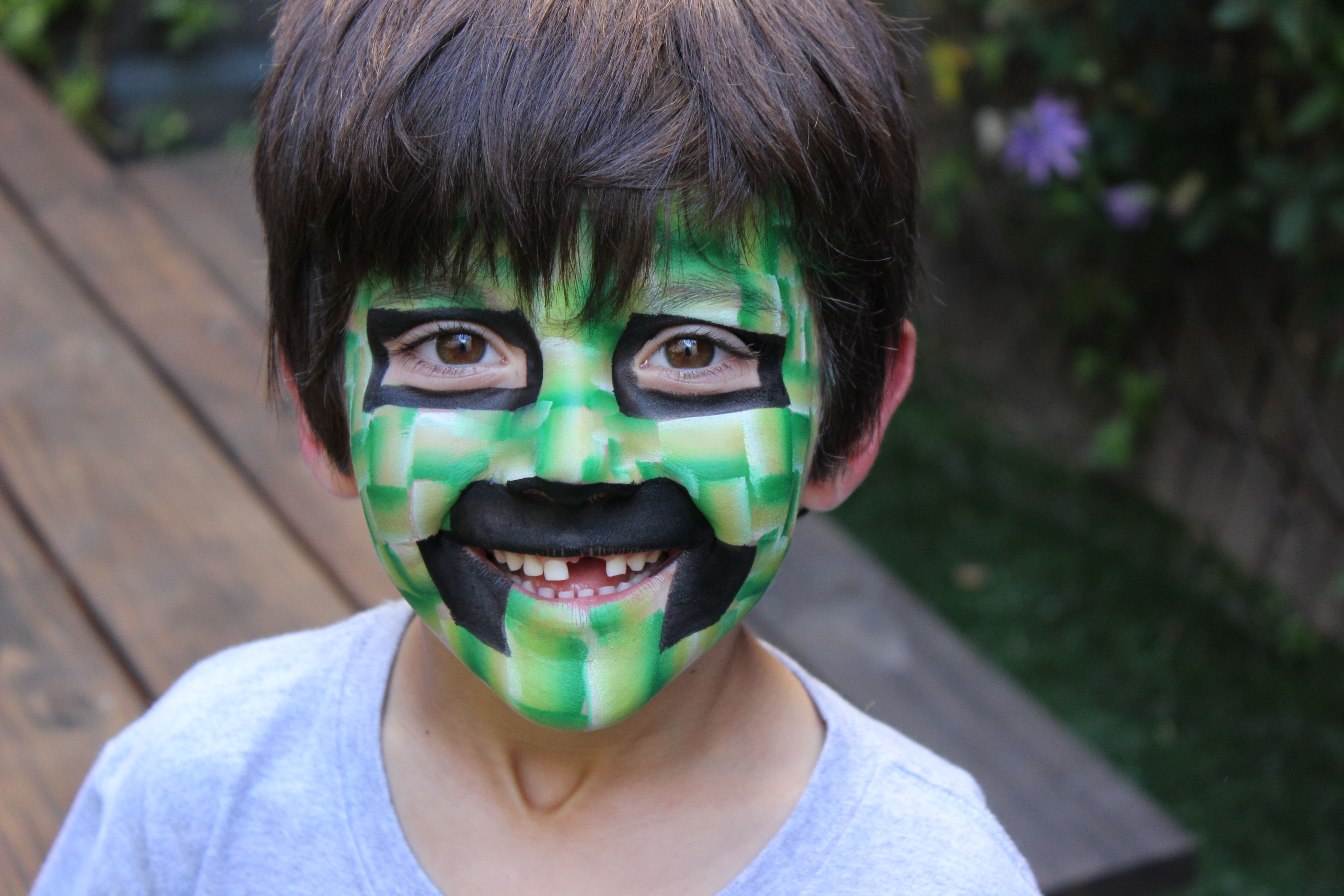 Mine Craft Face Paint