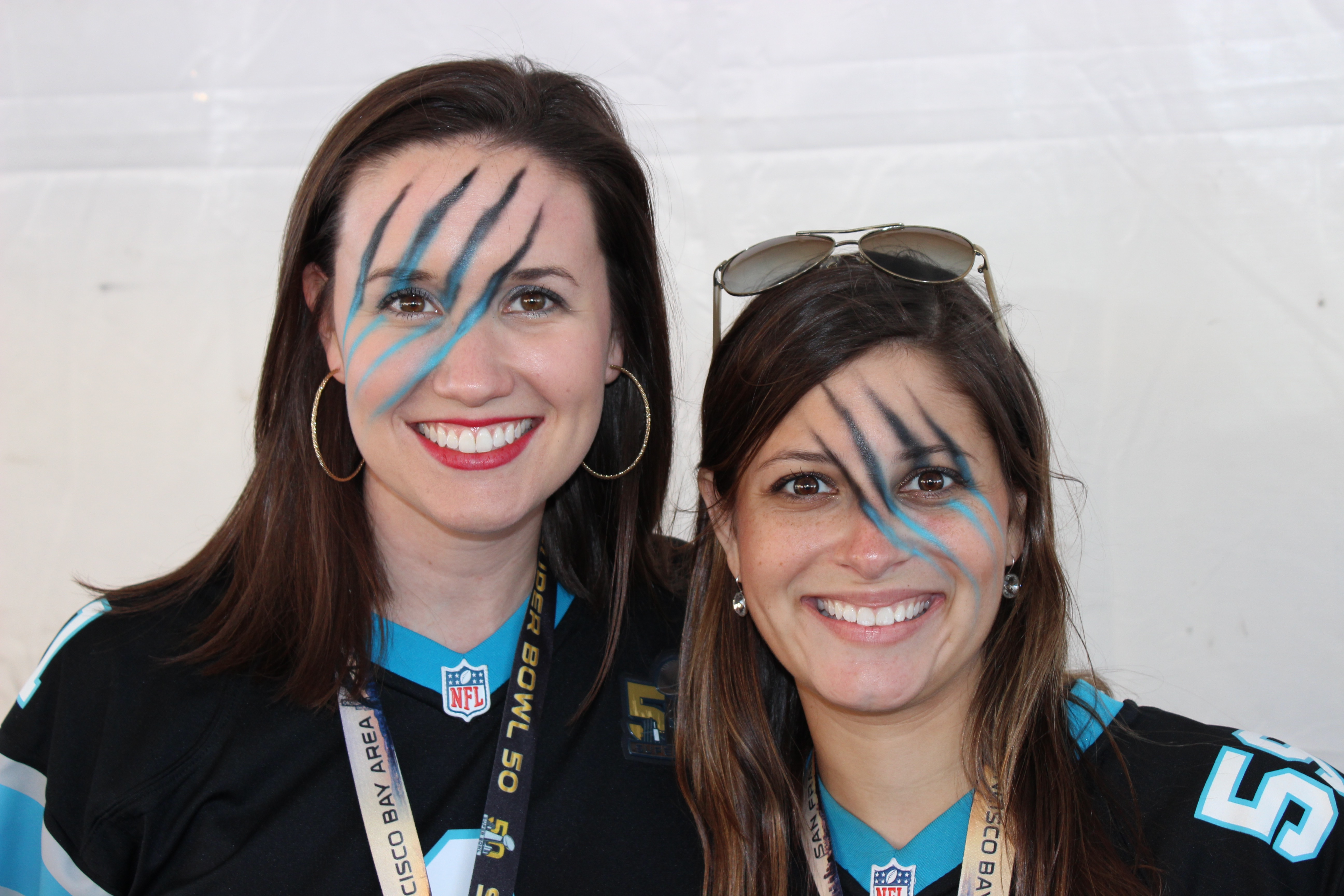 Super Bowl Face Paint Santa Clara