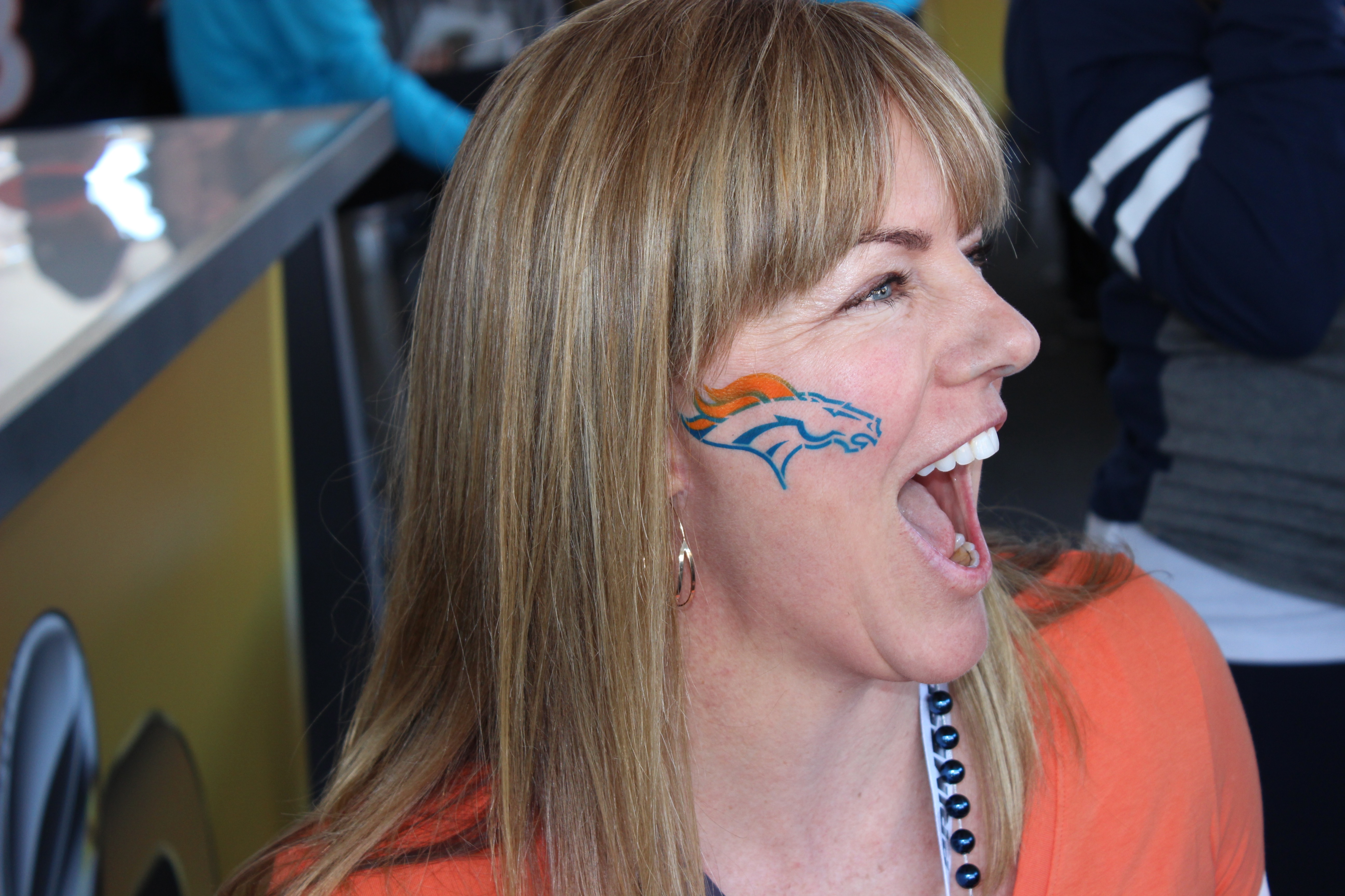 Super Bowl Face Paint San Francisco