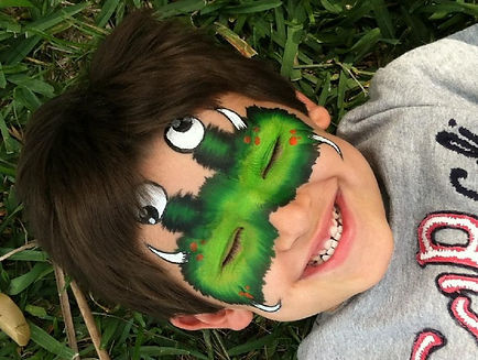 Furry Monster face painting for children