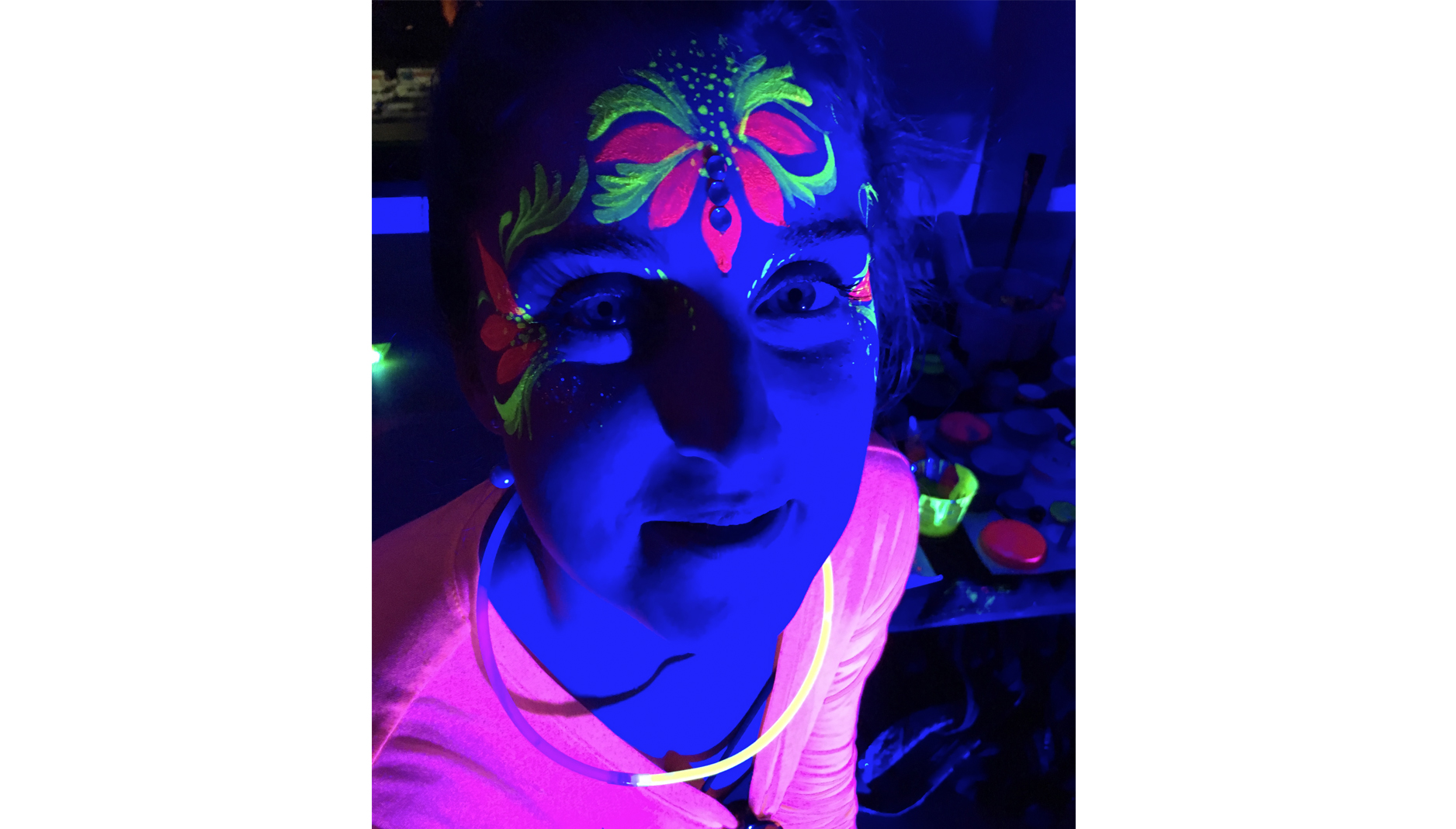 Black light Face Paint san francisco