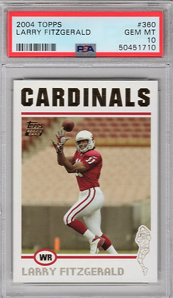 2004 Topps Lary Fitzgerald ROOKIE PSA 10