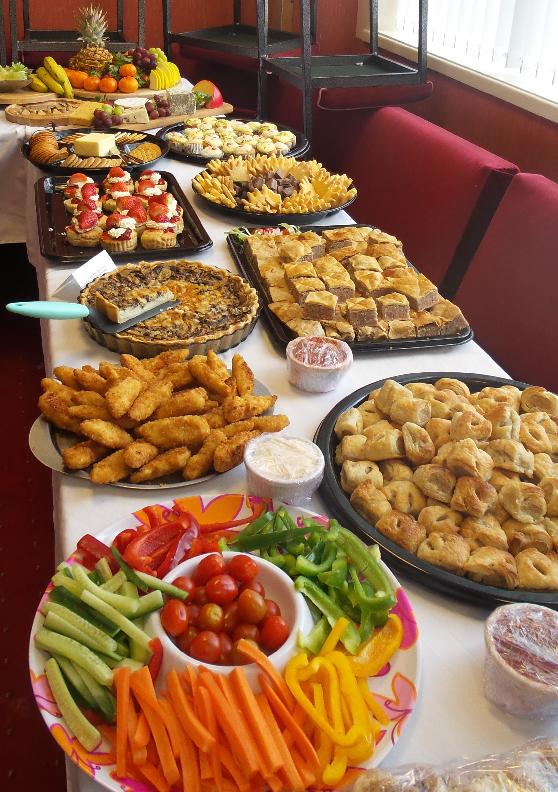 Buffet food to impress