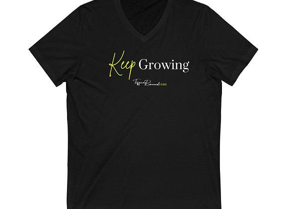 Keep Growing: Neon Yellow V-Neck (Unisex)