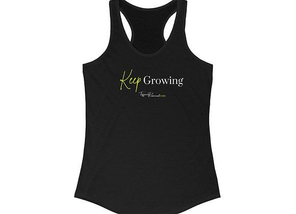 Keep Growing: Neon Yellow Edition (Women's Racerback)