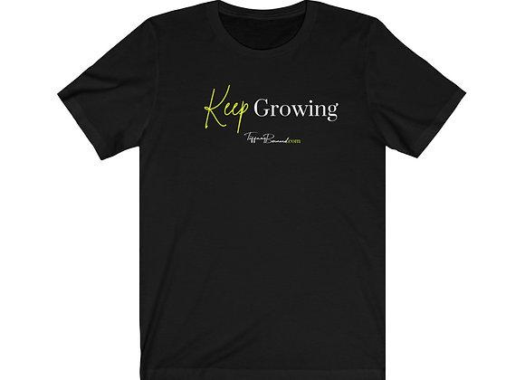 Keep Growing: Neon Yellow Edition Tee (Unisex)