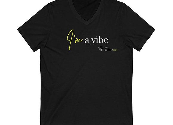 I'm A Vibe: Neon Yellow V-Neck (Unisex)