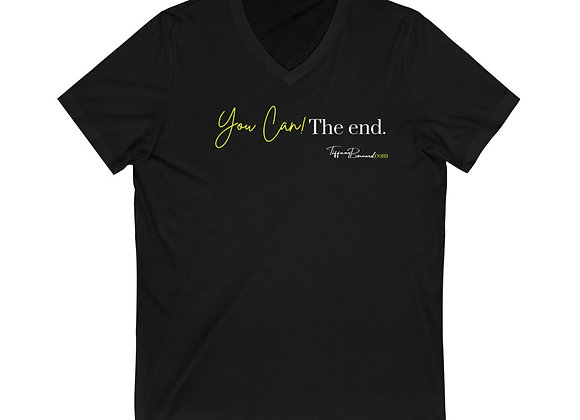 You Can! The End.: Neon Yellow V-Neck (Unisex)