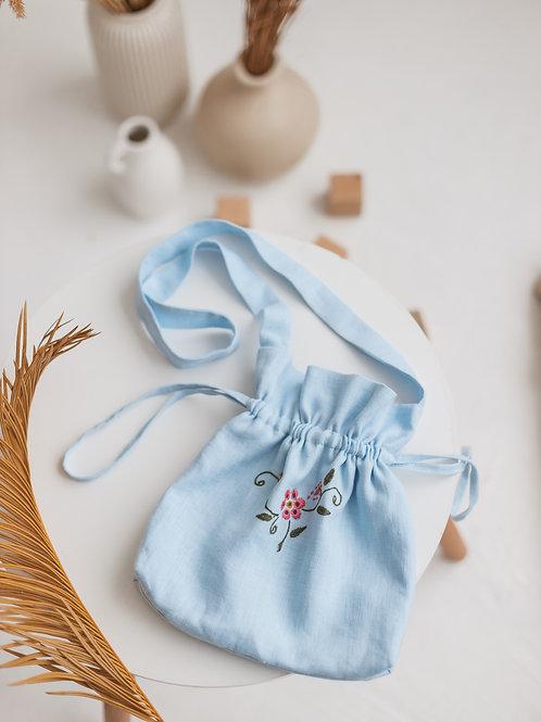 Lininis maišelis su siuvinėjimu