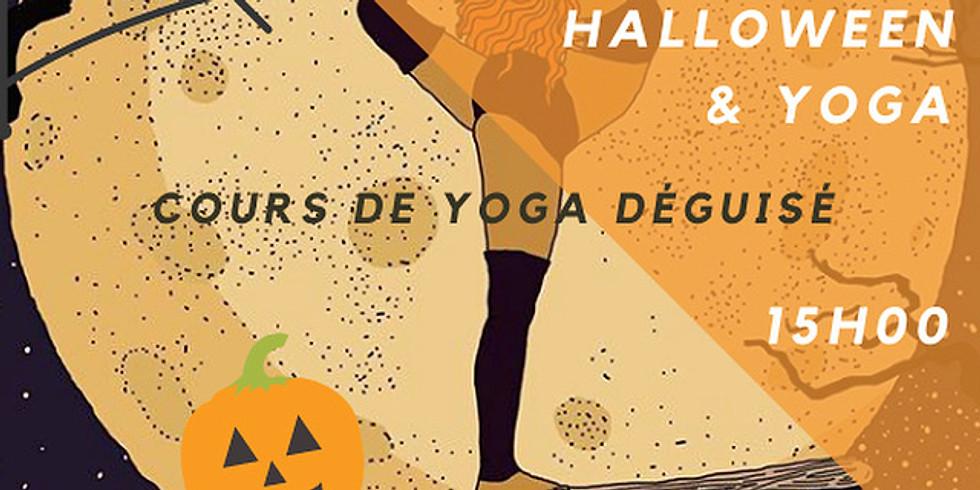 Cours de Yoga déguisé HALLOWEEN