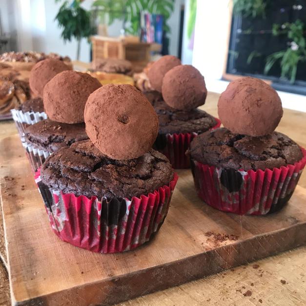 Muffin choco coco et sa truffe maison