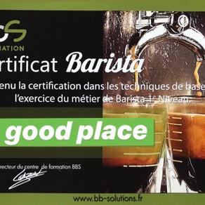 Le Good Place certifié Barista !