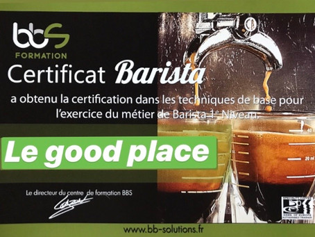 Le Good Place certifié Barista !
