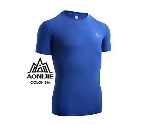 Camiseta Training de Secado Rápido AONIJIE. Hombre. Azul.