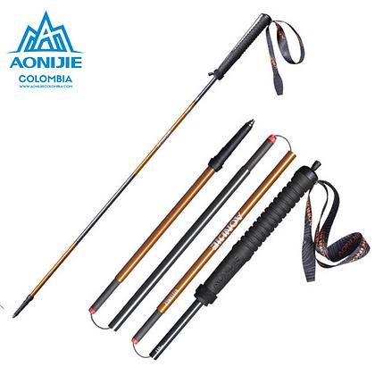 Baston DISTANCE 4 segmentos Aluminio+Carbono Aonijie. 110cm o 120cm.