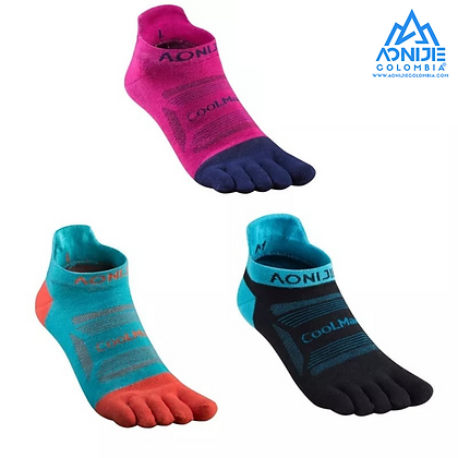 Finger Socks Aonijie Colors CoolMax® Cordura ®. Trio. LOW Cut. Mujer.