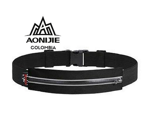 Cinturon Portadocumentos AONIJIE. Negro.