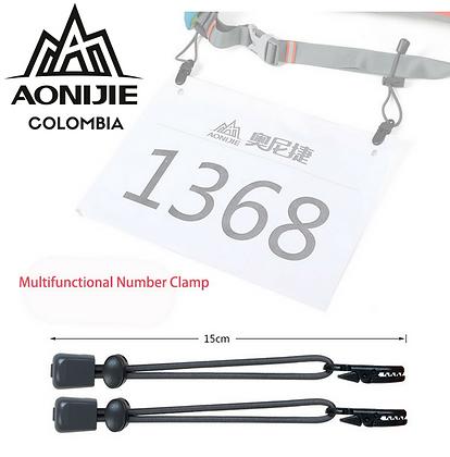 Clip y cordón elástico para numero AONIJIE.