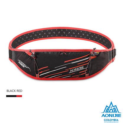 Cinturon PortaBastones Cordura® Aonijie. Negro/Rojo.