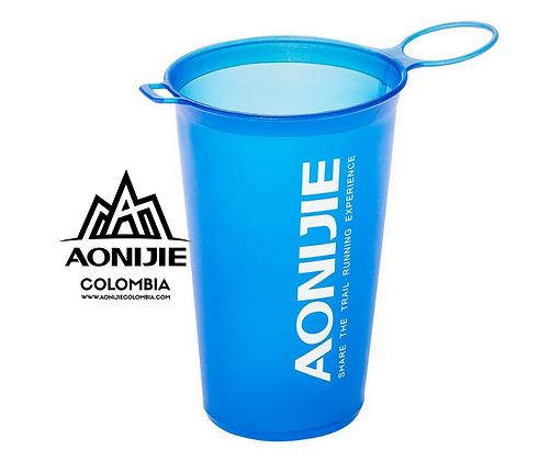 Vaso Deportivo Plegable AONIJIE 200ml. Azul.